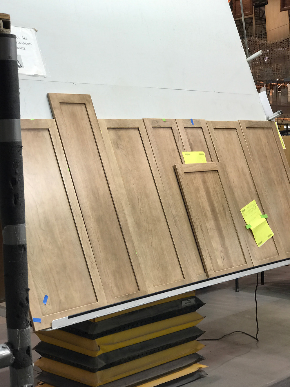 Comparing the finished doors in one place