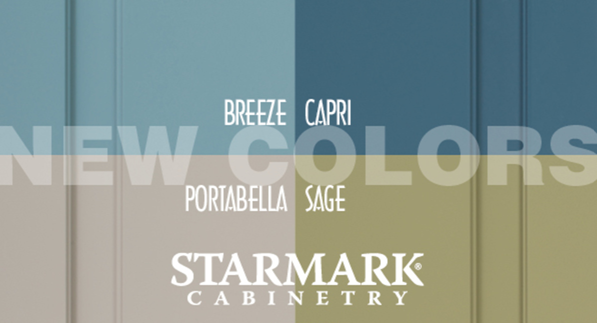 Breeze, Capri, Portabella, Sage New Cabinet Paint from StarMark Cabinetry