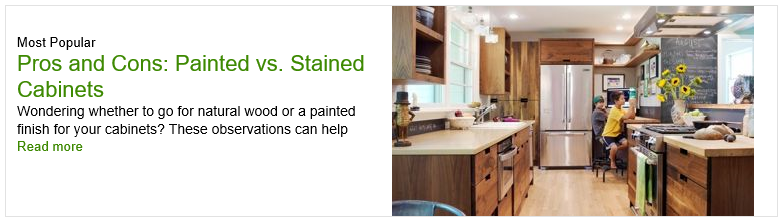Painted vs. Stained Cabinets - Pros & Cons