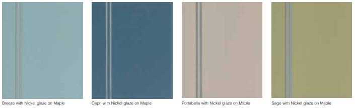 Breeze, Capri, Portabella, Sage with Nickel Glaze on Maple Wood by StarMark Cabinetry
