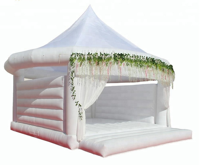White Wedding Boune House Weddng Bouncy Castle for rent in United States