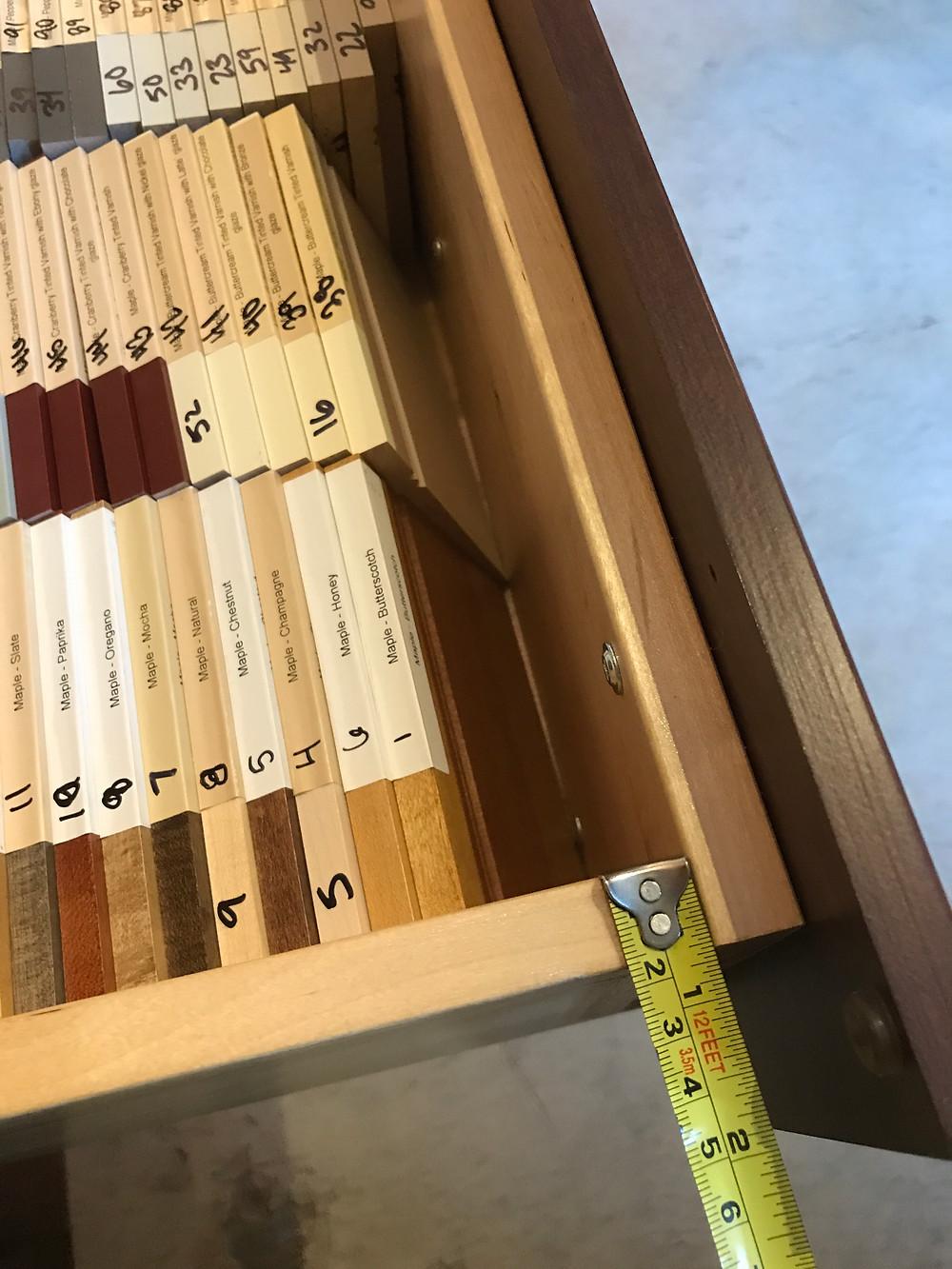Thick maple drawer box