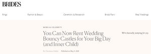 Brides trend spotting wedding bouncy castles for your big day
