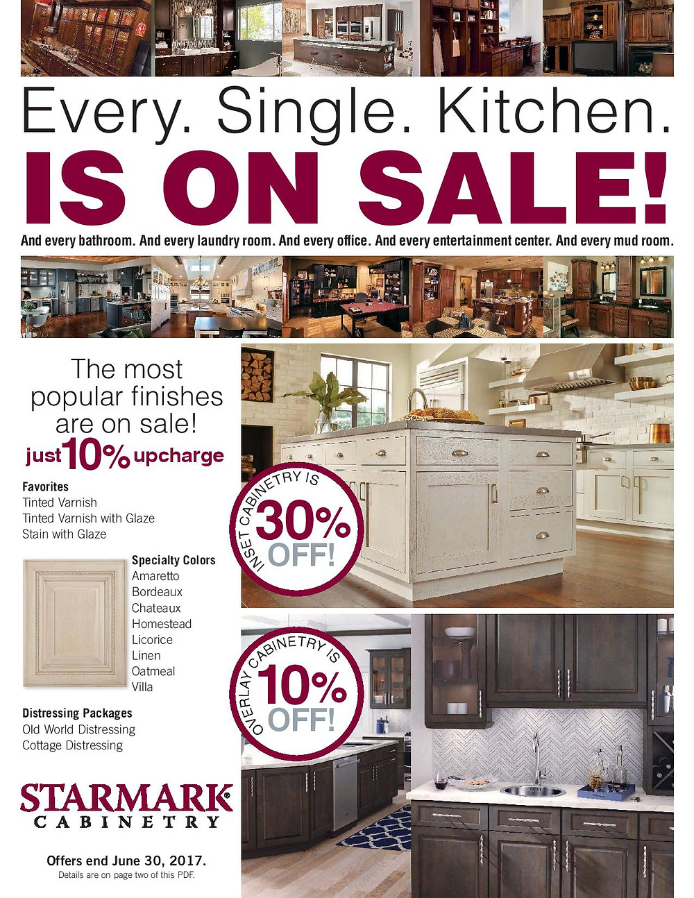 StarMark Cabinetry current promotion list