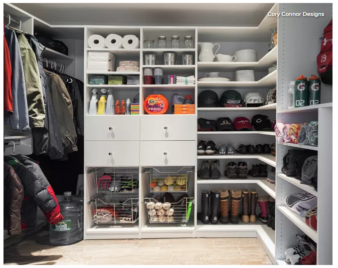 Hidden pantry storage