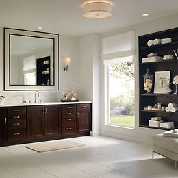 Dark Bathroom Cabintes by StarMark Cabinets from Click Cabinets