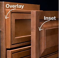 Full Overlay and Inset Cabinet options