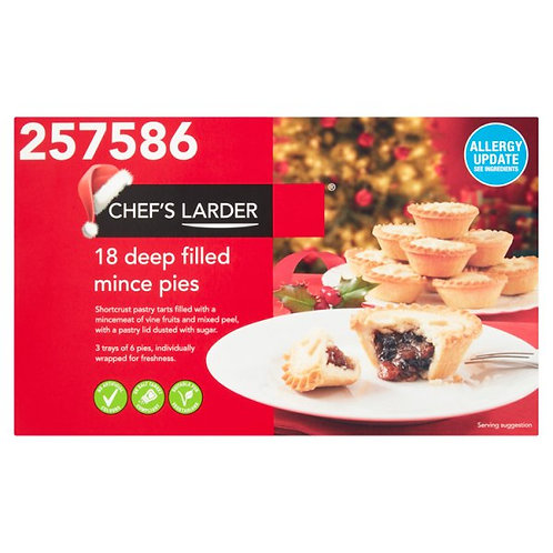 Mince pies - 18 x deep filled
