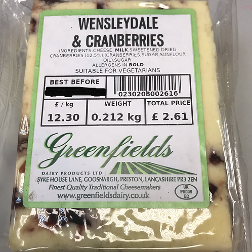 Wensleydale & cranberries - Price on supply