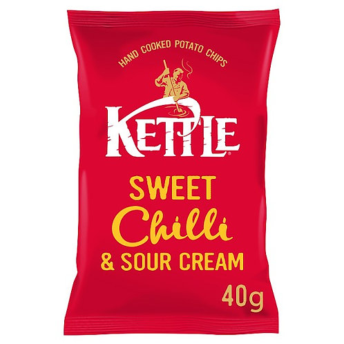 Sweet chilli & sour cream kettle chips - 18x40g