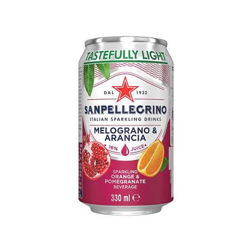 Sanpellegrino orange & pomegranate - 6 x 330ml