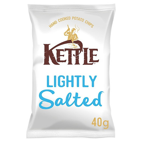 Lightly salted kettle chips - 18x40g