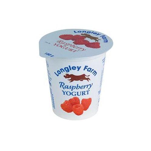 Longley Farm Raspberry yogurt - 150g