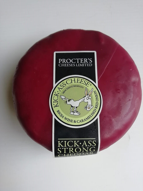 Kick-Ass Rioja wine & caramelised red onion strong cheddar - 200g