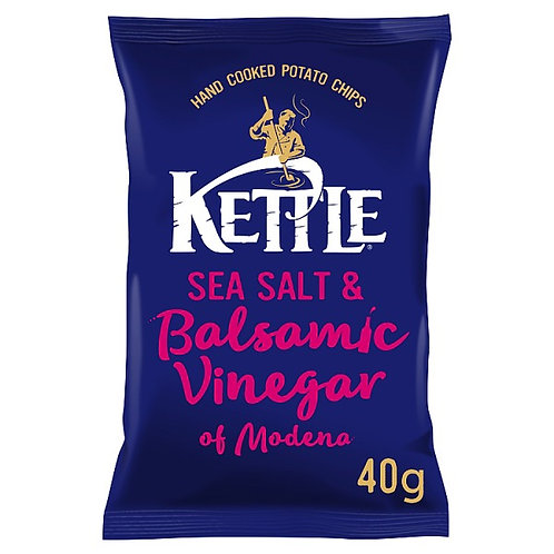 Sea salt & balsamic vinegar kettle chips - 18x40g