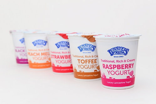 Dunsters Farm Peach Melba yogurt - 150g