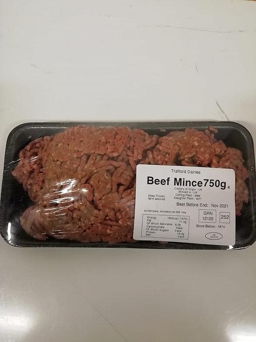 Minced beef frozen - 750g
