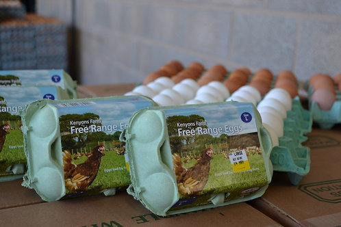 Large free range eggs - 6
