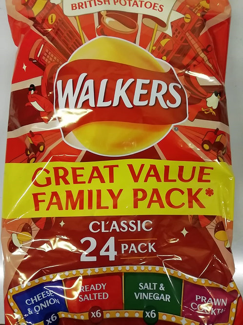 Walkers variety pack - 24 x 25g