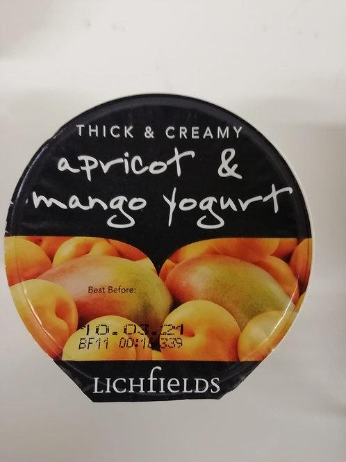Apricot & Mango yogurt - Lichfields 125g
