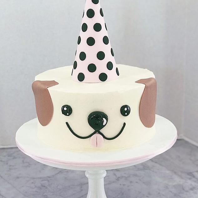 Buttercream Dog Cake