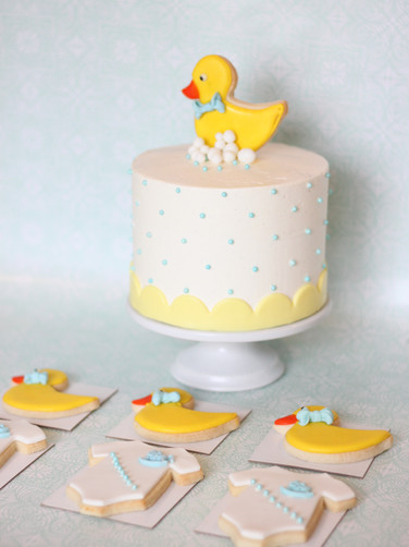 Buttercream and duck cookie