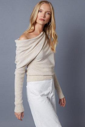 Off-Shoulder Cashmere Sweater - Lucy Nagle