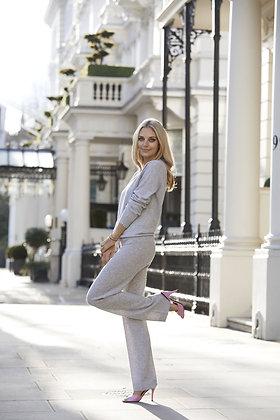 Cashmere Wide Leg Pants - Lucy Nagle