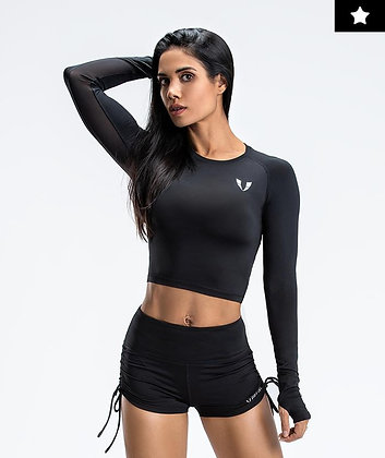 Lightweight Workout Crop Top - Firm Abs