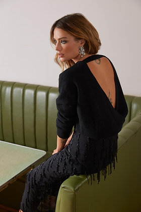 Cross Back Cashmere Sweater - Lucy Nagle