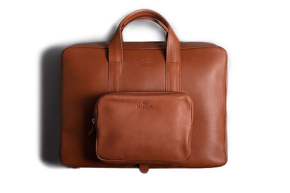 Leather Work Briefcase - Harber London