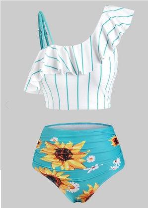 Striped Sunflower Tankini - Dress Lily