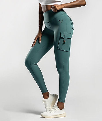 Cargo Pockets Leggings - Firm Abs