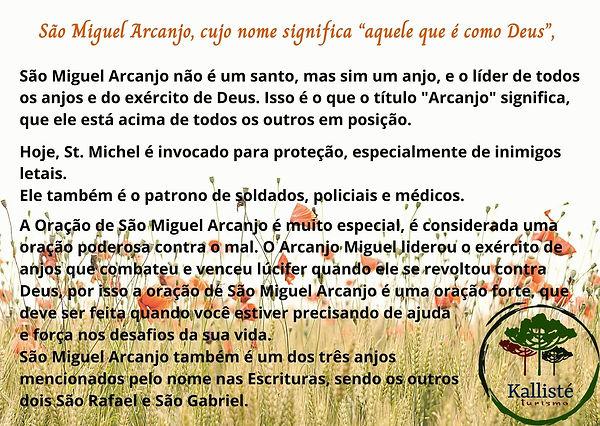São Miguel Arcanjo, cujo nome significa