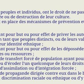 La Déclaration Campana, des droits du peuple Gaulois (Blanc), autochtone de France