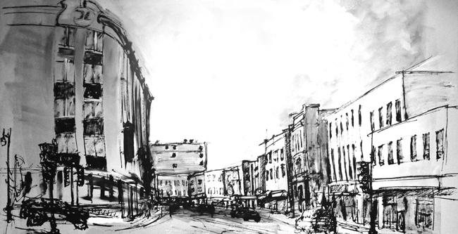 Coin rue Racine et Hôtel Chicoutimi