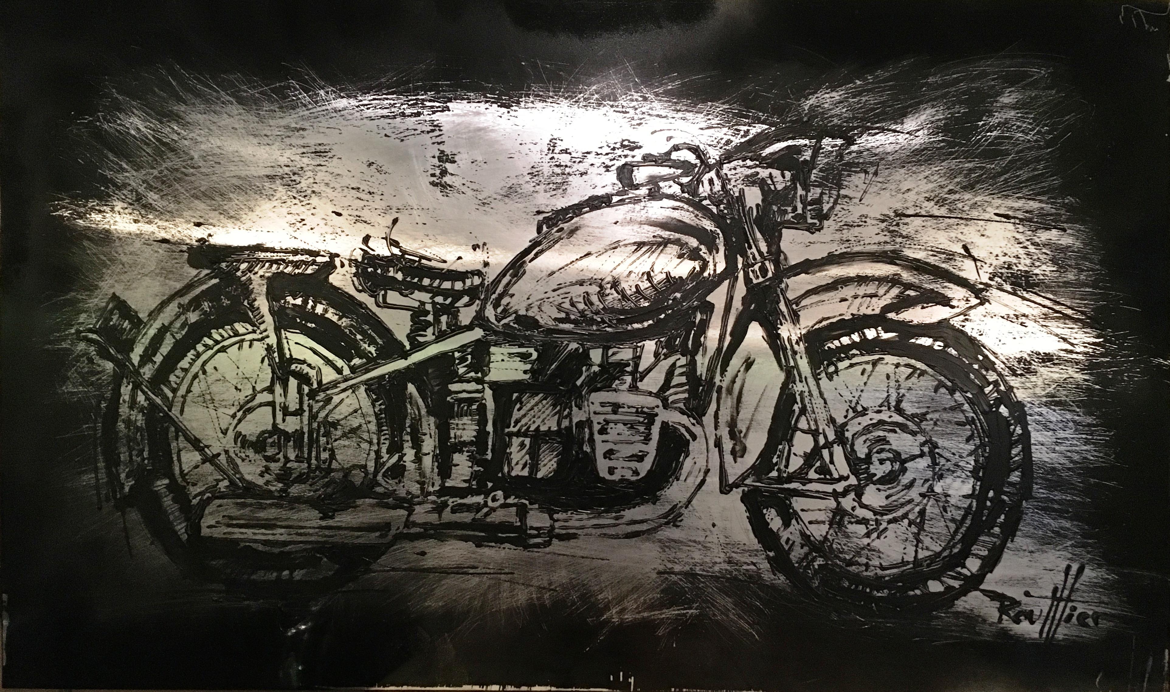 Moto2017 sur aluminium
