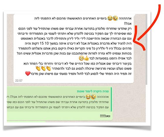 המלצה חמה של טניה לרין על יהודית אוביץ