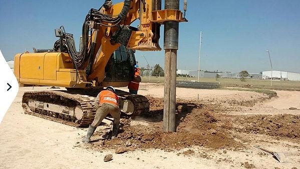 construcción de pilotes