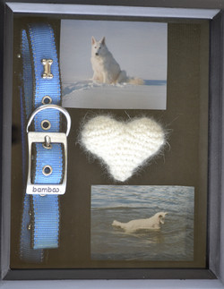 Shadow Box with Crocheted Heart