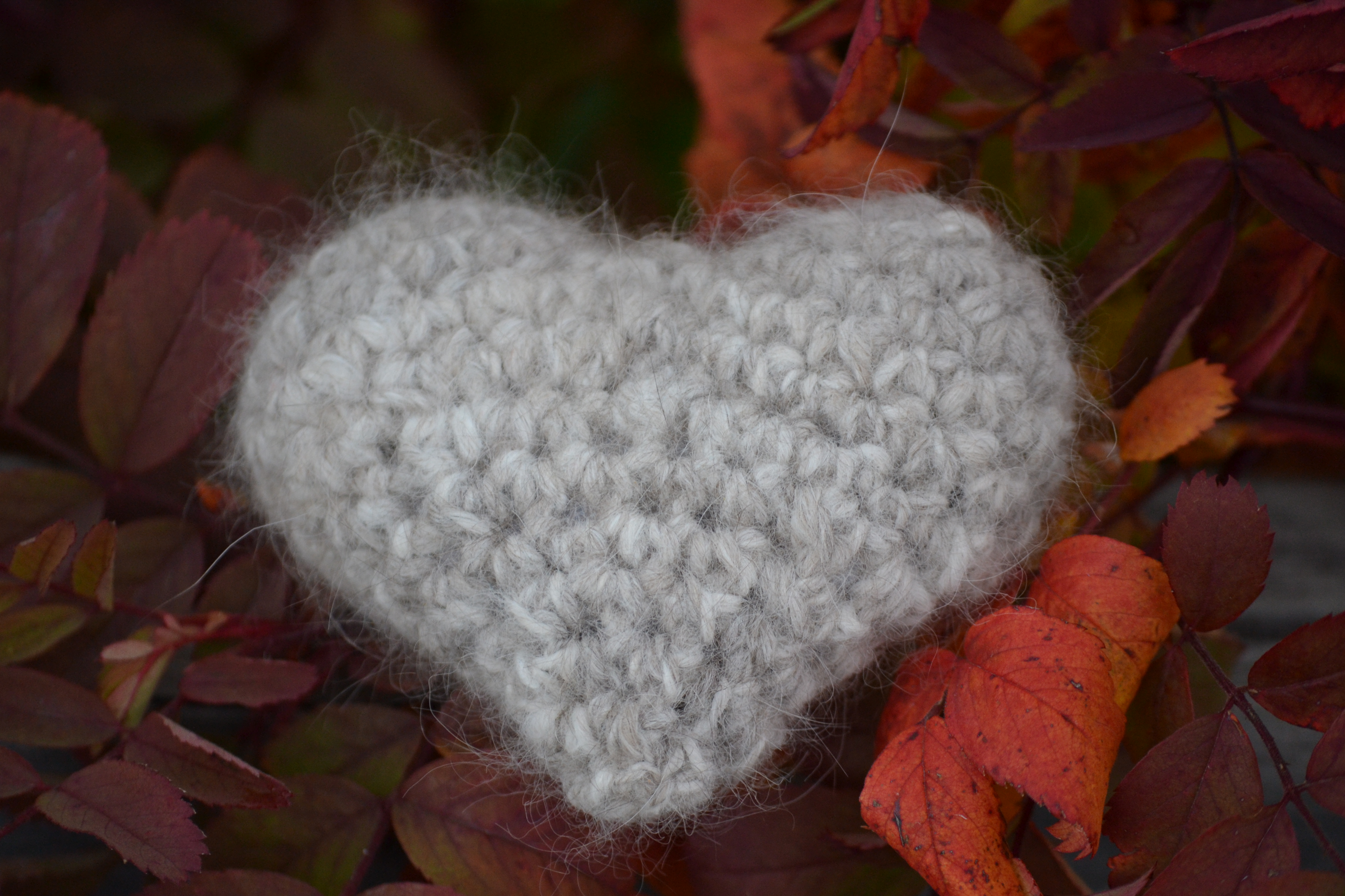 Plush Cat Fur Heart