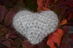 Plush Cat Fur Heart