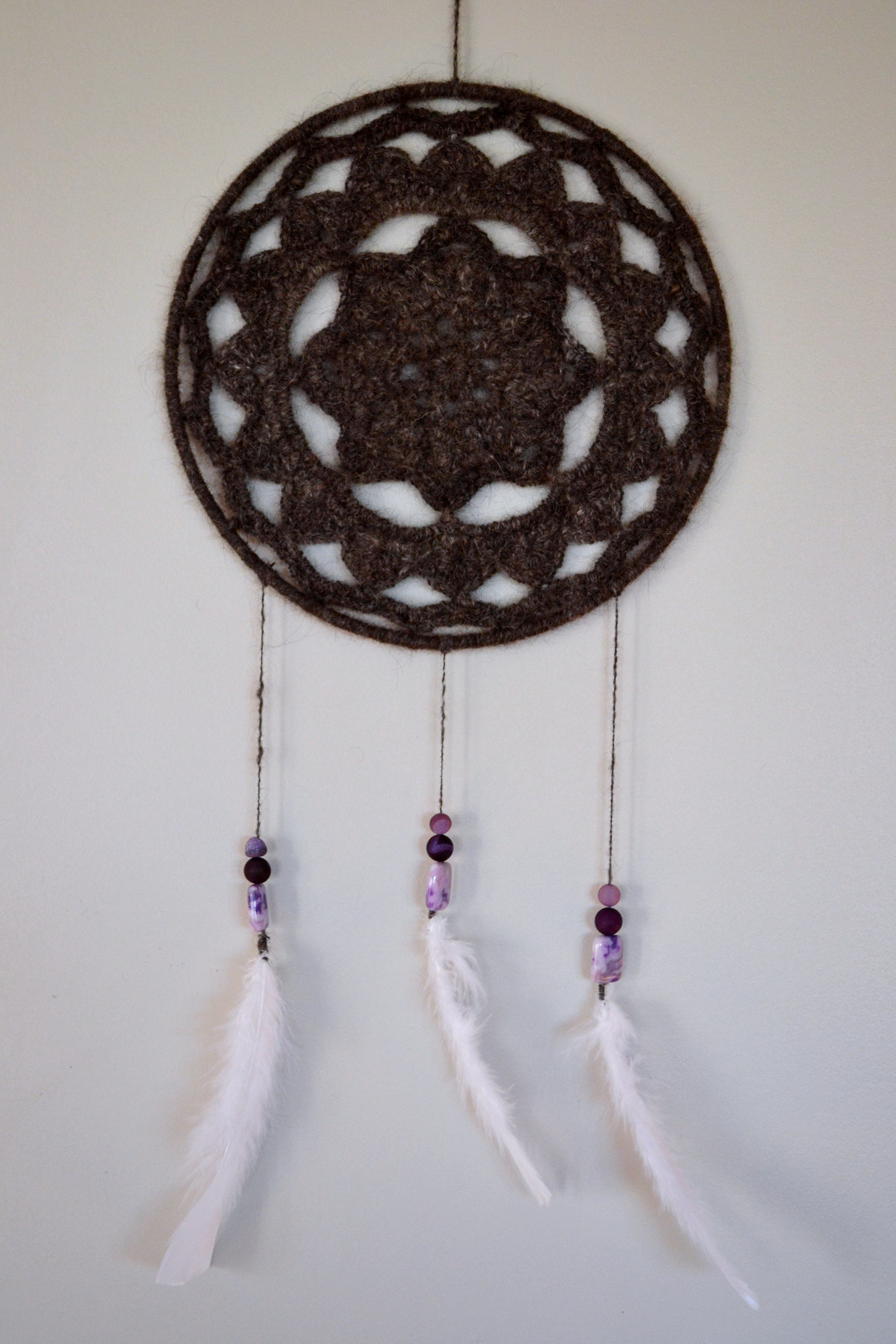 Crocheted Chiengora Dream Catcher