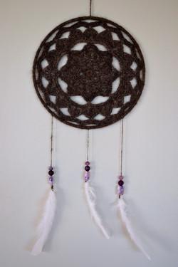 Crocheted Chiengora Dream Catcher