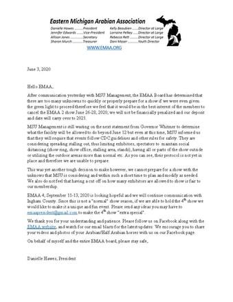 EMAA II Cancelled