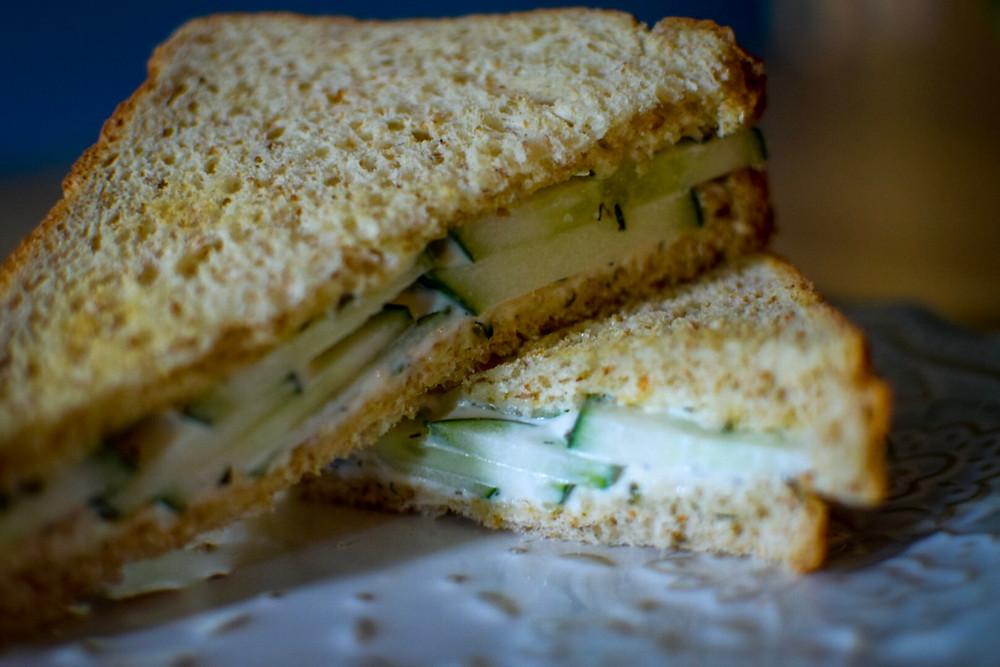 Cucumber Sandwich with Garlic Aioli