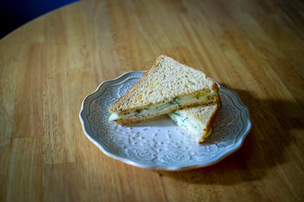 Cucumber Sandwich with Garlic-Dill Aioli