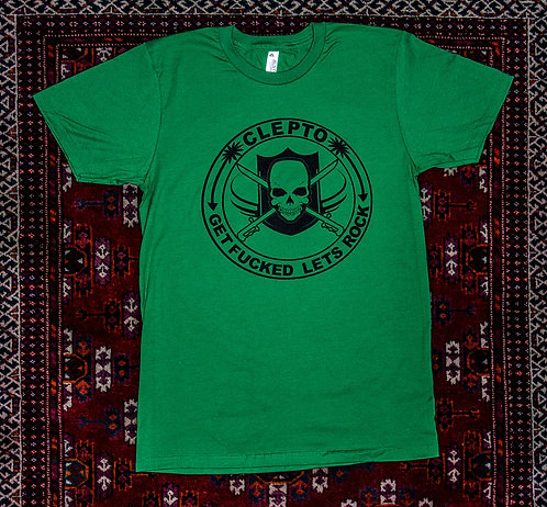 Clepto GFLR Tshirt (St Patty's Day Green Limited)