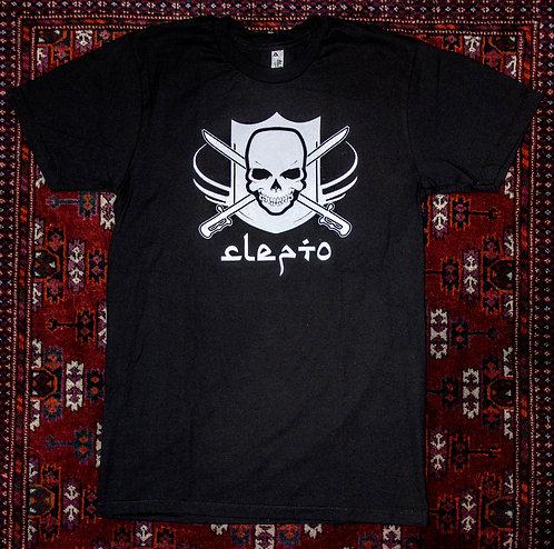Clepto Tshirt (White Skull)