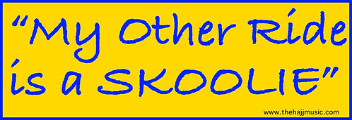 """My Other Ride is a SKOOLIE"" Sticker"